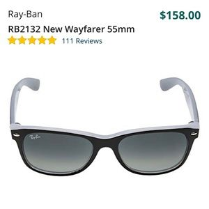 Ray-Ban New Wayfarer Matte Black Front
